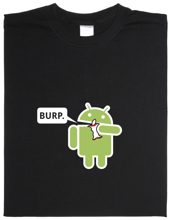 android-eating-apple-t-shirt